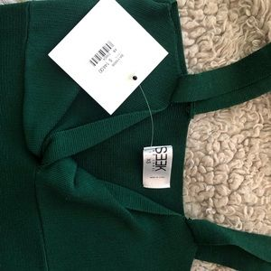 LF seek the label emerald green body con dress